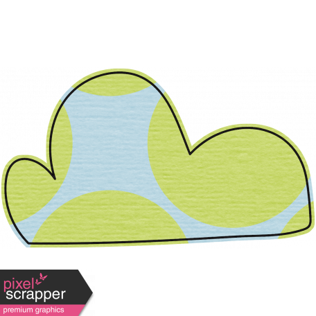 Where Flowers Bloom Doodle Clouds - Blue & Green