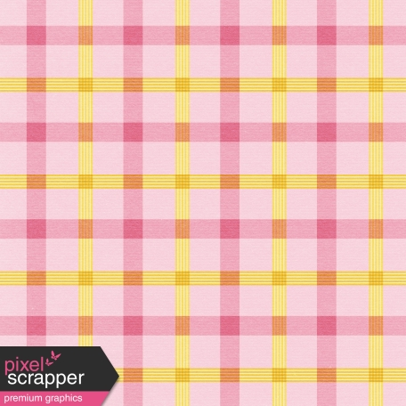 At The Farm - Plaid Paper - Pink & Yellow