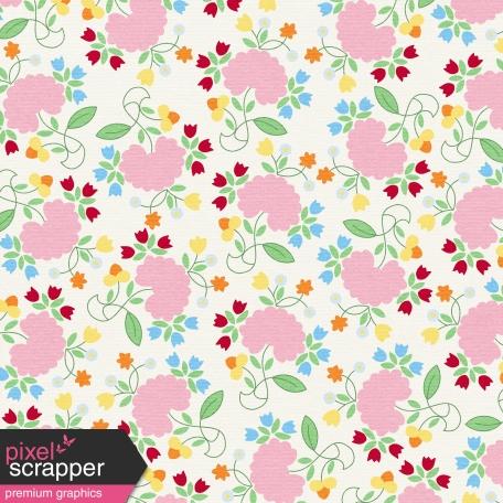 At The Farm - Floral Paper - Multicolor