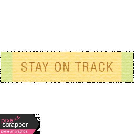 Sunshine & Lemons Label - Stay On Track