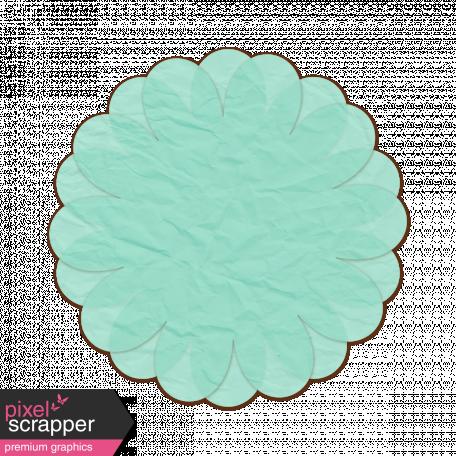 Tissue Paper Flower 2 - Teal