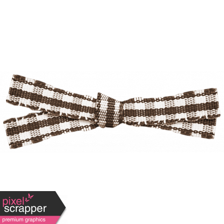 Brown Gingham Bow