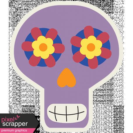 Skull Sticker 04 - Mexico
