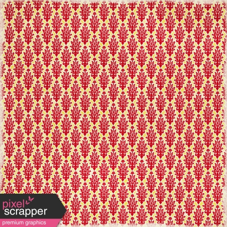 Damask 07 - Red & Yellow