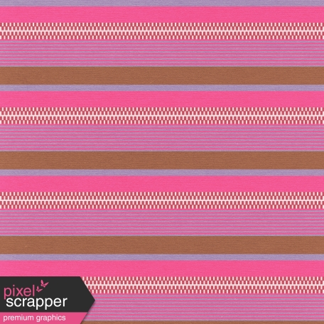 Mexico - Stripes & Zippers Paper - Pink & Brown