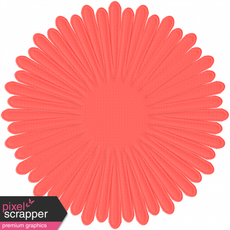 Paper Flower 15 - Coral