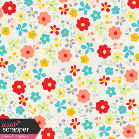 City Bicycle - Floral Paper - Multicolor