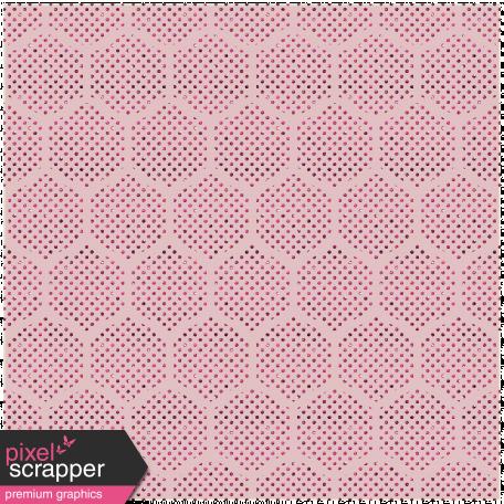 Geometric 22 - Glitter Transparency - Pink