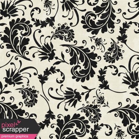 Floral 77 - Black & White