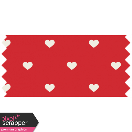 World Cup Washi Tape - Red Hearts