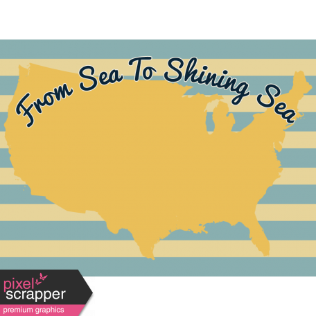 Road Trip Journal Card - From Sea To Shining Sea