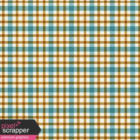 Plaid Paper 10 - Teal & Mustard