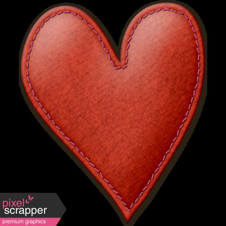 Cruising Elements - Red Felt Heart