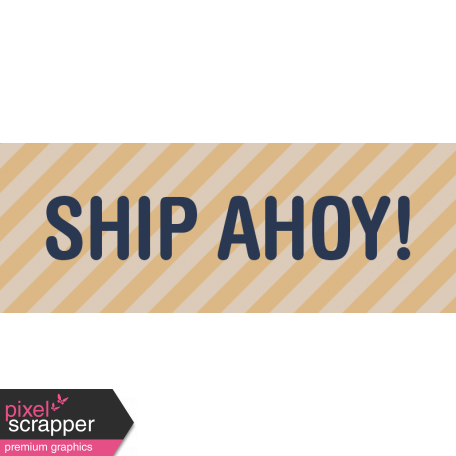 Cruising Elements - Ship Ahoy Label