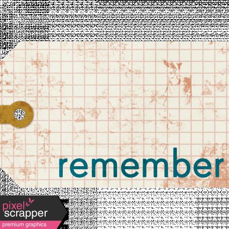 Remember Tag