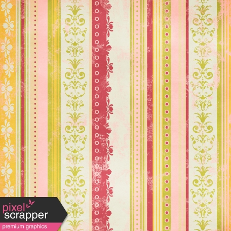 Stripes Paper 98 - Pink & Green