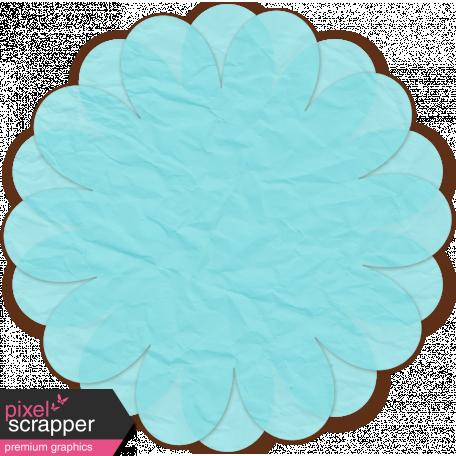 Paper Flower 12 - Aqua