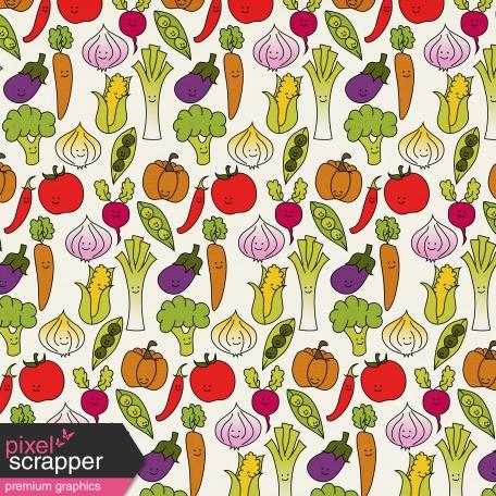 Veggie Patch - Happy Vegetables Paper