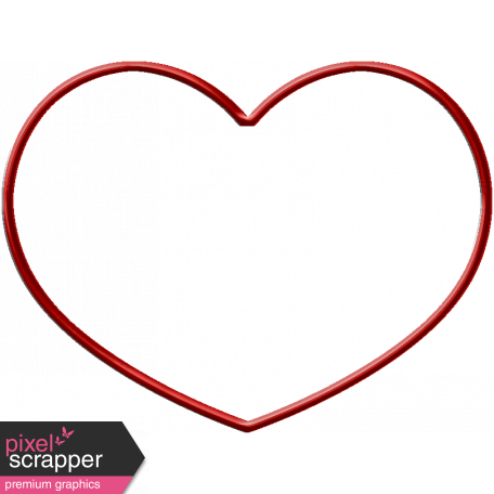 Red Metal Heart Outline