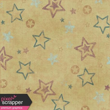 Stars 2 - Teal & Brown