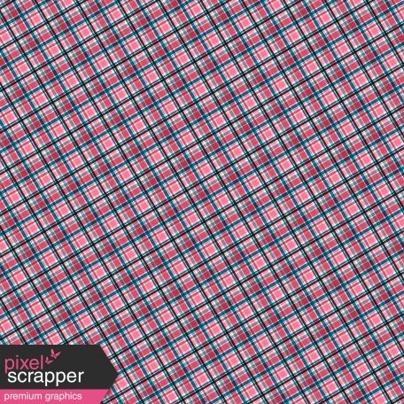 Pink Blue Plaid Paper