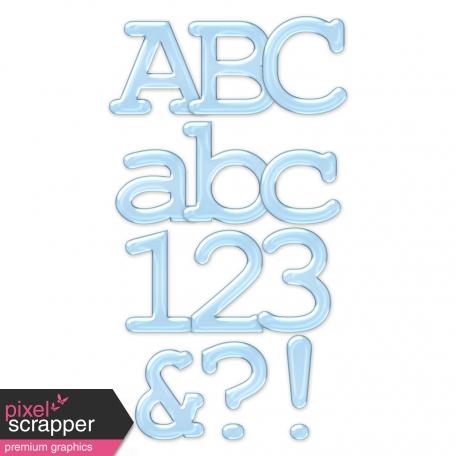 Baby Blue Plastic Alpha