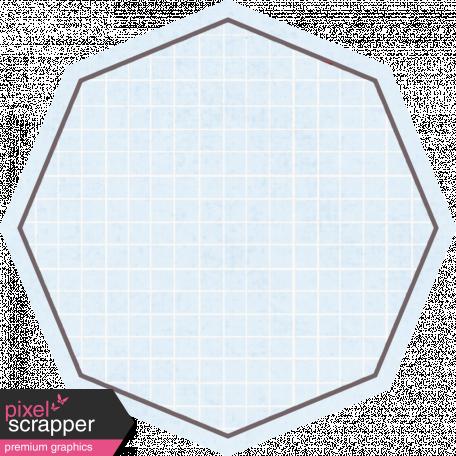 Octagon Grid Tag - Blue
