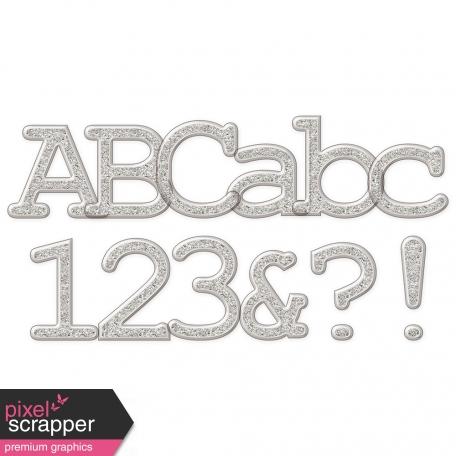 Plastic Glitter Alpha - Silver (serif)