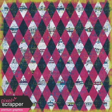 Argyle 22 Paper - Navy & Pink