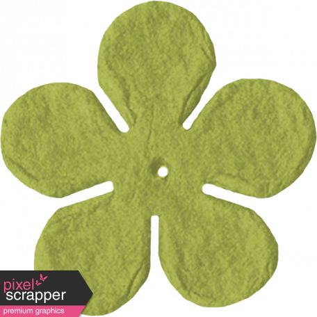 Paper Flower 09 - Lime Green