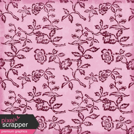 Floral Paper - Pink Glitter