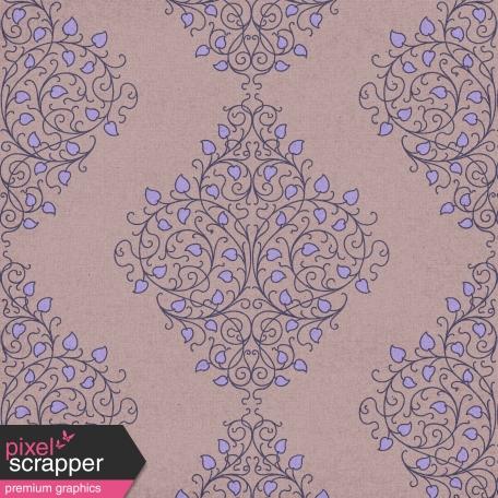 Damask 05 Paper - Purple