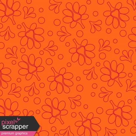 Orange Flower Paper