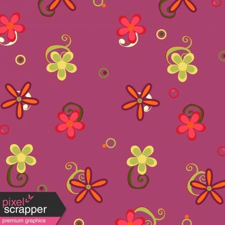 Purple Flower Paper