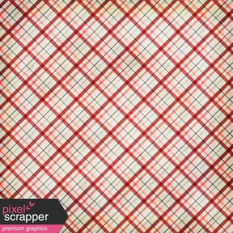 Plaid 43 Paper - Red & Mint