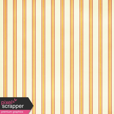 At the Zoo Striped Paper - Cream & Orange