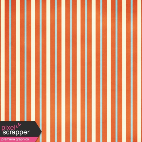 At the Zoo Striped Paper - Red, Cream & Blue