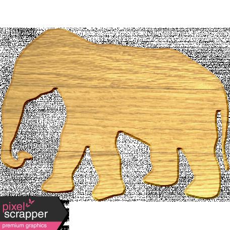 Wood Veneer Elephant Graphic By Marisa Lerin Pixel