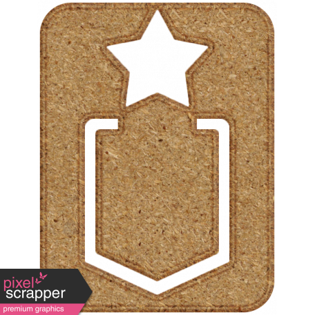 Chipboard Clip - Star