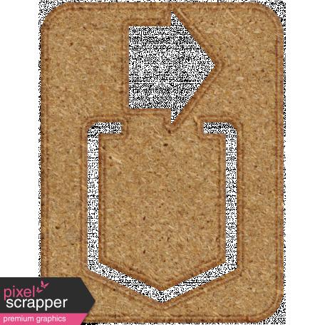 Chipboard Clip - Arrow