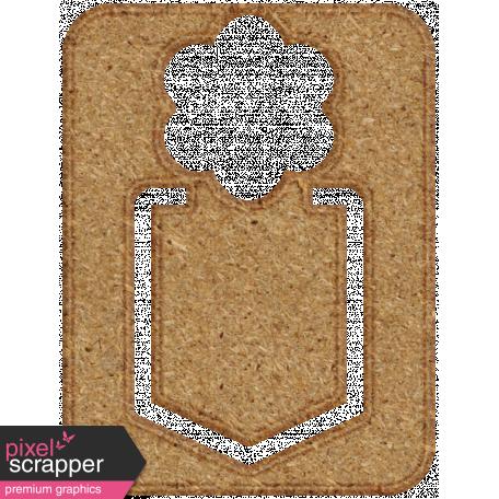 Chipboard Clip - Flower