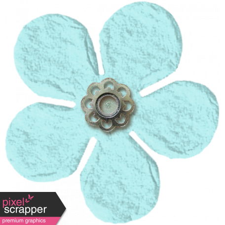 Amsterdam Small Paper Flower - Blue