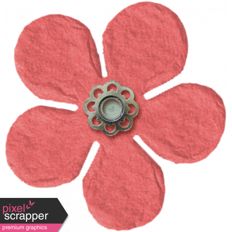 Amsterdam Small Paper Flower - Coral