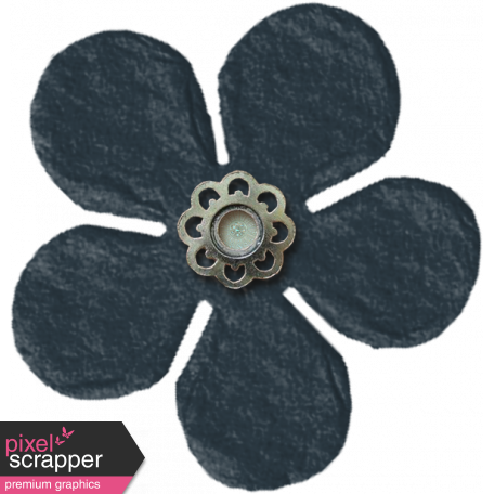 Amsterdam Small Paper Flower - Navy