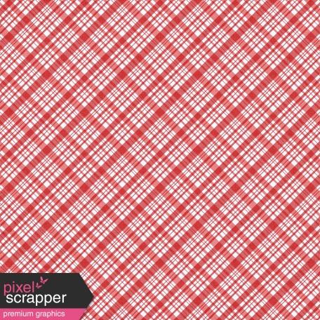 Plaid 34 Paper - Coral