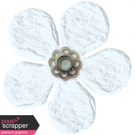 Amsterdam Small Paper Flower - White
