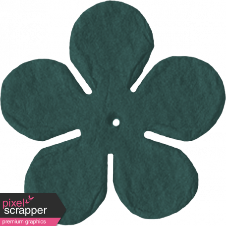 Paper Flower 09 - Teal 2