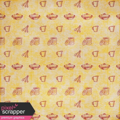Kitchen Paper - Maroon & Yellow
