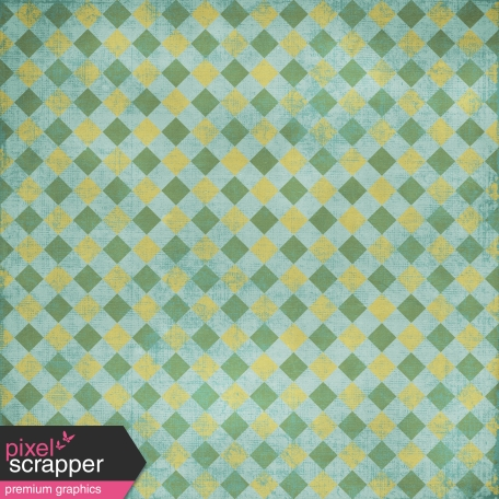 Kitchen Gingham - Teal & Yellow