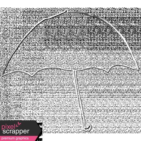 Rainy Days - Metal Umbrella Outline